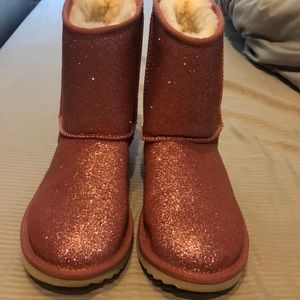 Pink super sparkle authentic UGG boots